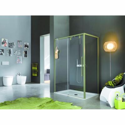 Paroi de douche à 1 porte coulissante 117-121x200 Modèle Acrux de Samo