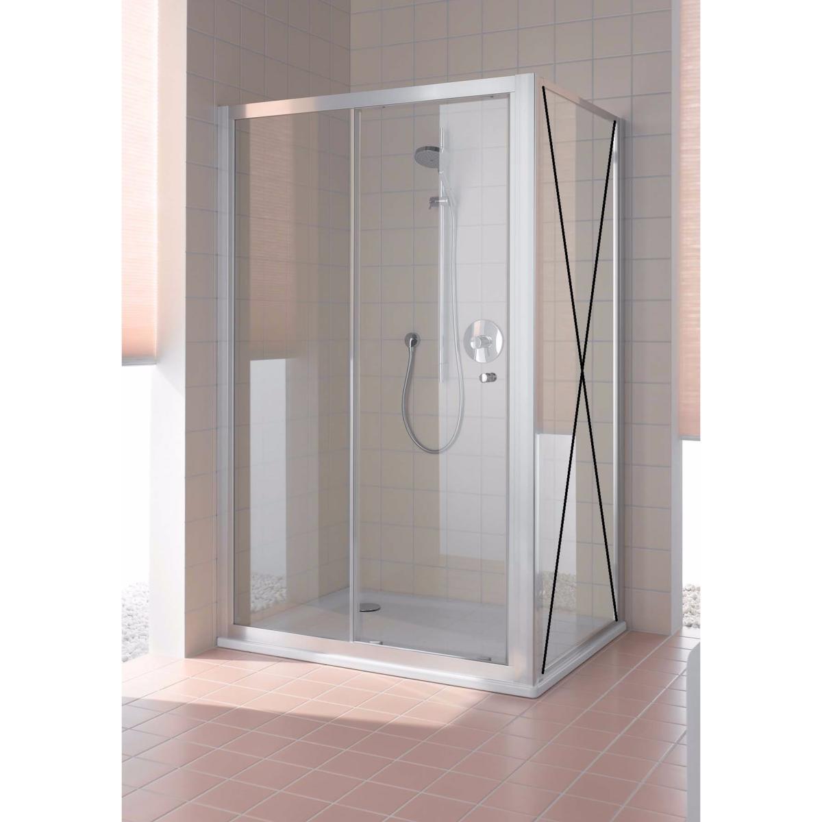 Paroi de douche a 1 porte coulissante grande largeur for Porte de douche rothalux