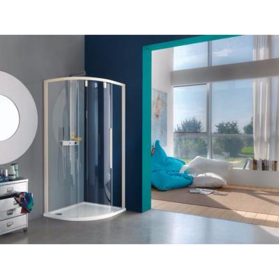 paroi de douche 1 4 de cercle 3 panneaux mod le acrux de samo. Black Bedroom Furniture Sets. Home Design Ideas