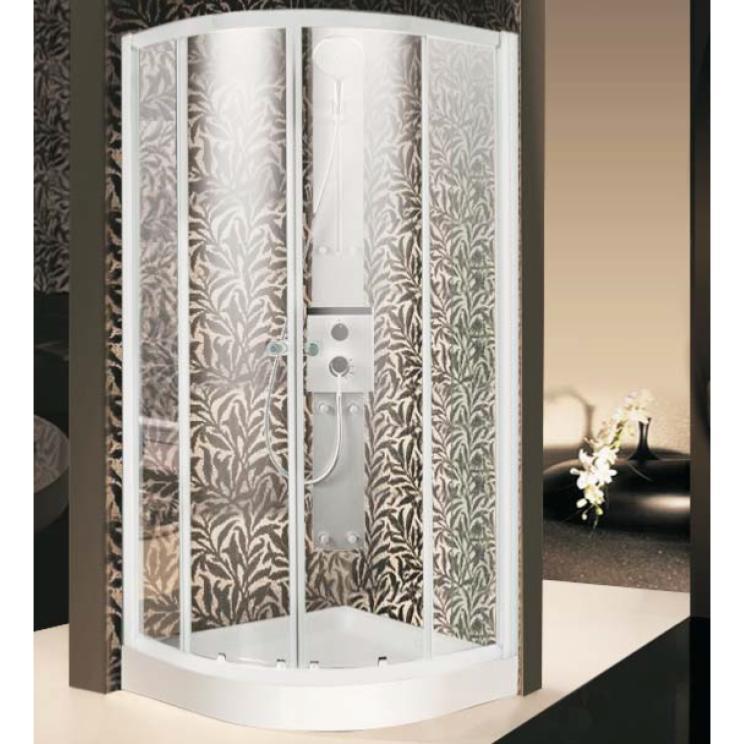 Paroi de douche 1 4 rond 2 portes coulissantes - Portes de douche coulissantes ...