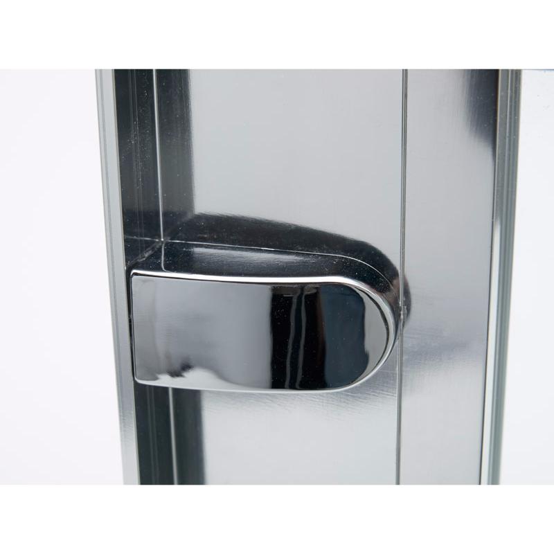 paroi de douche 1 4 rond 2 portes coulissantes mod le express de merlyn. Black Bedroom Furniture Sets. Home Design Ideas