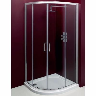 paroi de douche 1 4 rond 2 portes coulissantes sur 2 fixes. Black Bedroom Furniture Sets. Home Design Ideas