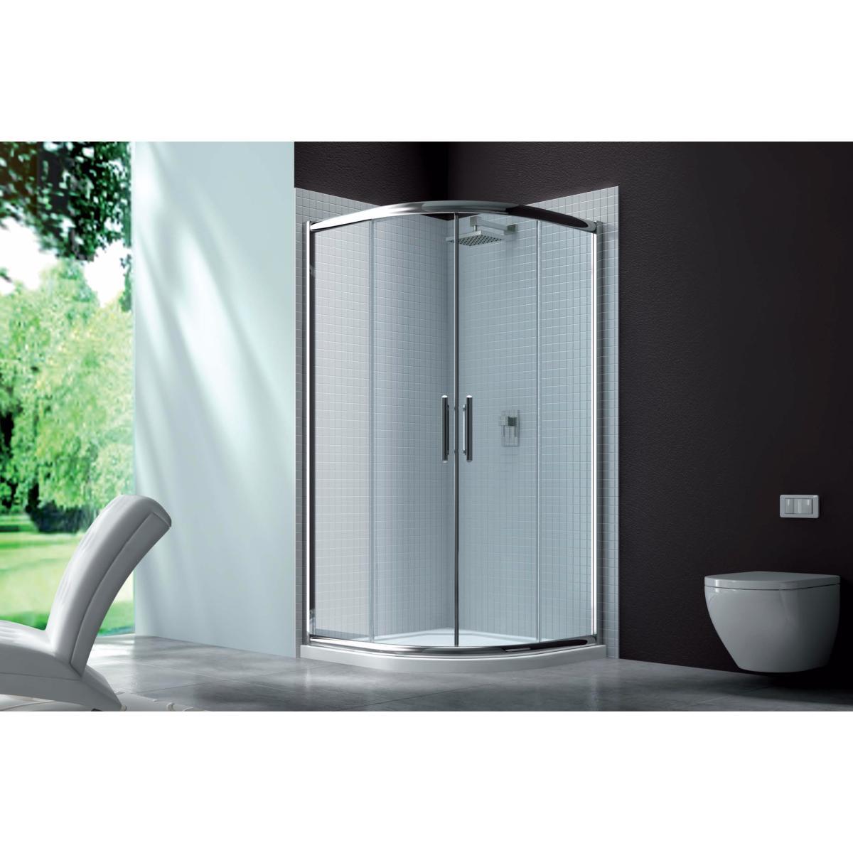 paroi de douche 1 4 de cercle 2 portes coulissantes mod le serie 6 de merlyn. Black Bedroom Furniture Sets. Home Design Ideas