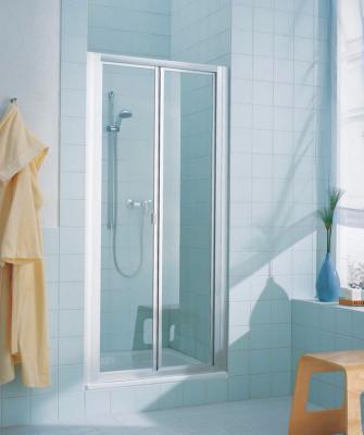 paroi de douche 2 portes pliantes de rothalux. Black Bedroom Furniture Sets. Home Design Ideas