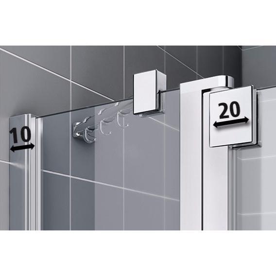 paroi de douche 1 porte pivotante avec l ment fixe en ligne mod le raya de rothalux. Black Bedroom Furniture Sets. Home Design Ideas