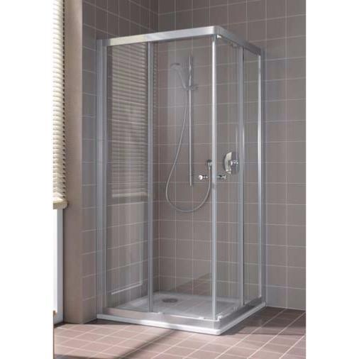 Paroi de douche acces d39angle 1 porte coulissante modele for Porte de douche rothalux