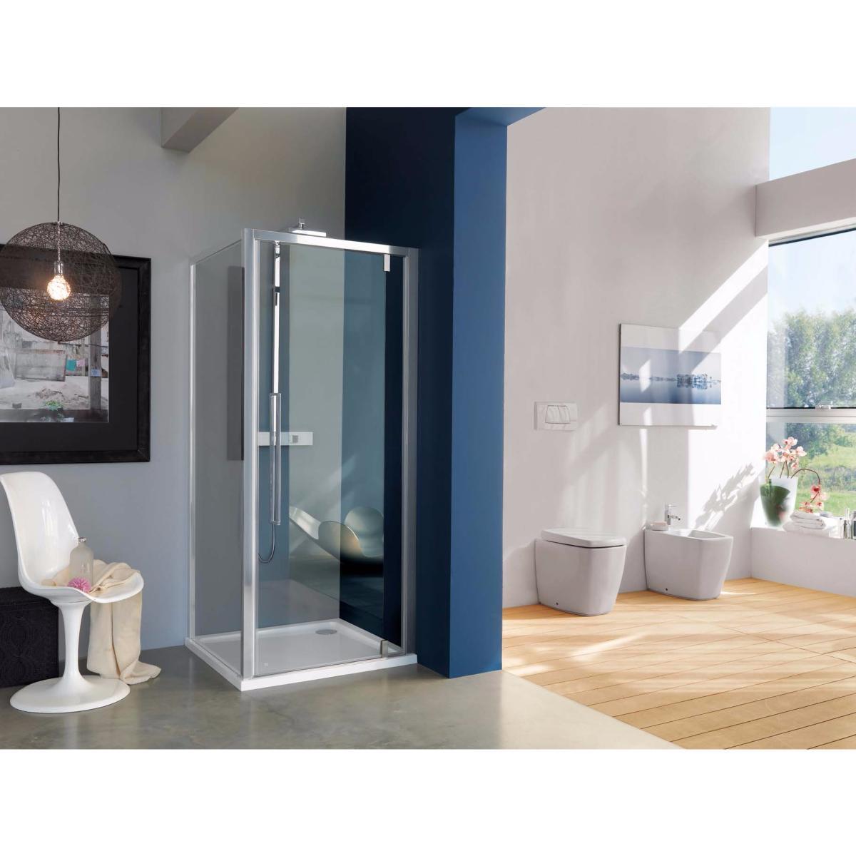 Porte de douche 1 panneau battant mod le acrux de samo 77 81x200 - Pose porte de douche ...